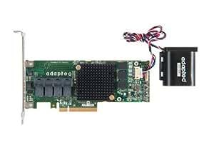 Adaptec 71605Q Contrôleur RAID SAS 6 Go/s PCI Express 16 ports internes avec module AFM-700 sans câble SGL