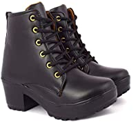 KRAFTER Boots for Women Highly Comfortable and Reasonable Black