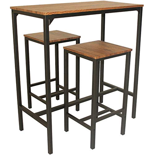 Ensemble table bar tabourets