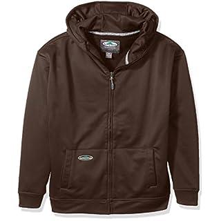 Arborwear Mens Tech Double Thick Full Zip Shirt - Brown -