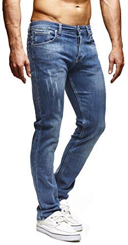 LEIF NELSON Herren Hose Jeans Jeanshose Freizeithose Denim Regular Fit LN271BL-RG; W32L32, Blau