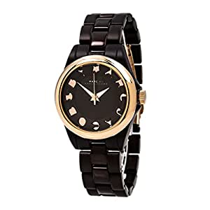 Marc by Marc Jacobs MBM3527 Women's Bubble Rose Gold Tone Bezel Brown Chocolate Dial Chocolate Aluminum Watch