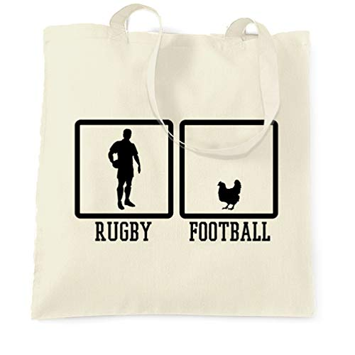 Tim And Ted Joke Sport Tragetasche Rugby Vs Fußball Huhn Neuheit Natural One Size -