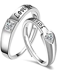 Bold N Elegant Classy Love Forever Lovers Couple Rings Wedding Engagement Rings Adjustable Love Bands For Couples