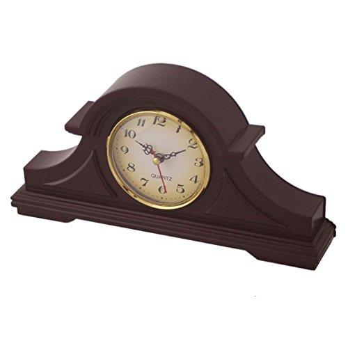 Quartz Kaminuhr Kamin Uhr Tischuhr Quartzuhr Standuhr Buffetuhr in Braun