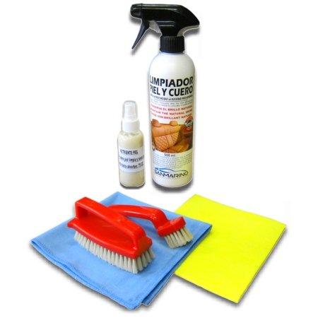 sanmarino-kit-limpieza-tapicerias-piel-y-cuero-500-ml-nutriente-piel-cepillo-doble-especial-bayetas