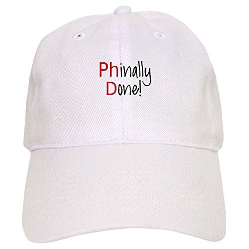 CafePress Phinally Done Phd Graduate Baseball - Baseball Cap With Adjustable Closure, Unique Printed Baseball Hat