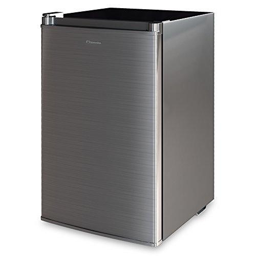 Inventor A 82L Kompakter Luxus Mini-Kühlschrank Inox Silber
