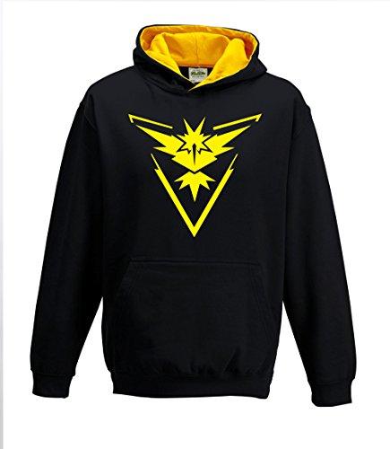Bullshirt da bambini Team Instinct Contrasto Felpa Con Cappuccio Black / Gold 9-11 Anni - Red Mystic Jacket