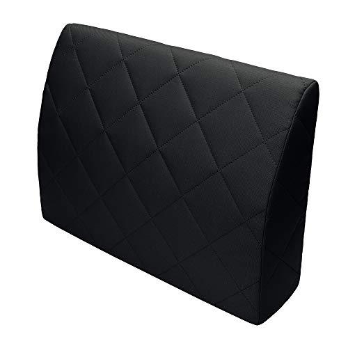 Selfitex Rückenkissen für Bett, Rückenlehne für Sofa, Lesekissen, für Lounge- oder Palettenmöbel, Länge 60 cm, Höhe 45 cm, Made in Germany (schwarz) (1) -