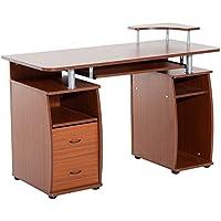 Mesa de Ordenador PC Oficina Despacho Dormitorio Hogar Escuela Escritorio Madera 120x55x85cm
