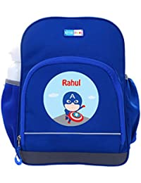 UniQBees Personalised School Bag With Name (Little Life Pre-School Backpack-Blue-Captain)