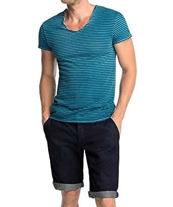 edc by esprit herren t shirt slim fit gestreift gr small gr n cw green 300. Black Bedroom Furniture Sets. Home Design Ideas