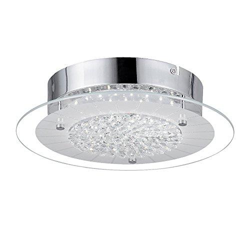 LED Kristall Deckenleuchte 12W Glas Deckenlampe Ersetzt 100W Glühbirne led Deckenlampe Ø28cm 4000K 1200lm 120° Abstrahlwinkel ideal für Küche Schlafzimmer Wohnzimmer Warmweiß.