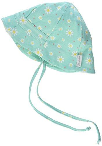 Hut, Mütze, Mint (Sterntaler Fischerhut für Mädchen mit Bindebändern, Nackenschutz und Blümchenmuster, Alter: ab 5-6 Monate, Größe: 43, Mint)