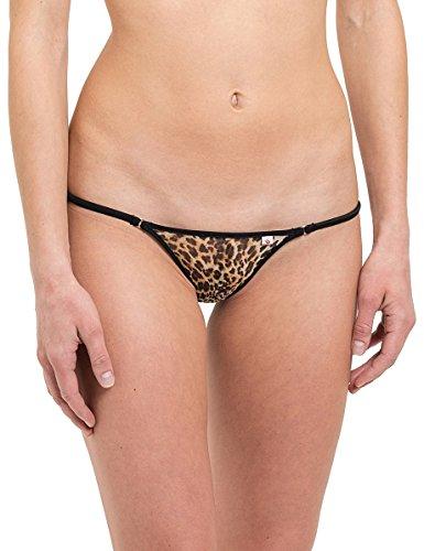 SKINSIX Damen Bikini-Slip bwu170 mesh Leopard oder Zebra, Brasil-Tanga, das Original Leopard