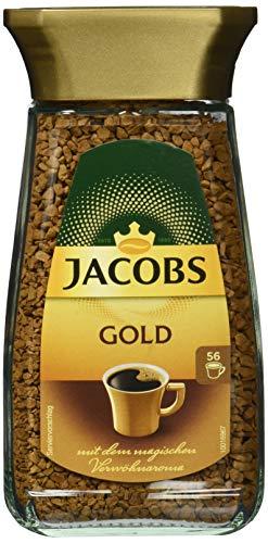 Jacobs löslicher Kaffee Gold, 6er Pack, 6 x 100 g Instant Kaffee
