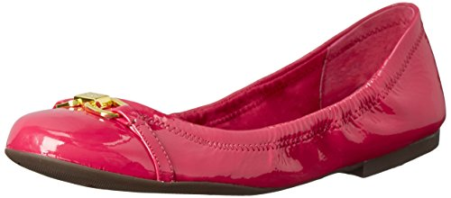 Lauren Ralph Lauren Betsy Femmes Cuir verni Chaussure Plate Rose Crinkle Patent Leather