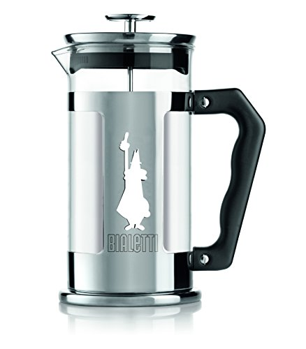 Bialetti - 3160 - French Press Preziosa - Cafetière Italienne à Piston en Inox - 3 Tasses