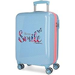 MOVOM Always Smile Equipaje de mano, 55 cm, 33 litros, Azul