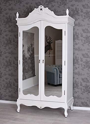 Vintage Kleiderschrank Shabby Chic Schrank Wäscheschrank Antik Stil vic426 Palazzo Exclusiv - Kleiderschrank Holz Aus Vintage