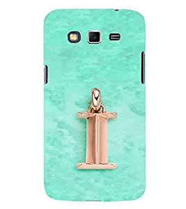 For Samsung Galaxy Grand 2 i icon, name word, blue background Designer Printed High Quality Smooth Matte Protective Mobile Pouch Back Case Cover by BUZZWORLD