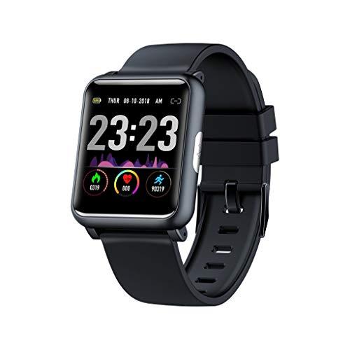 DingLong H9 1,3 Zoll Wasserdichte Smartwatch, Herzfrequenz-EKG-Blutdruckmessung Fitness Armband Wasserdicht Smart Watch Intelligente Tracker Aktivitäts Uhr (Schwarz)