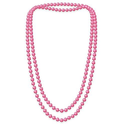 Eine süße SoulCats Kette Perlenkette Perlen viele Farben XXl lang pink blau creme, Farbe:pink;Kettenlänge:148 cm