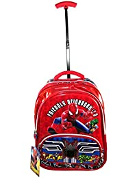 2149f0a92e9d Spiderman 5D Embossed Sturdy Trolley Travel (4 to 12 Years) School Bag