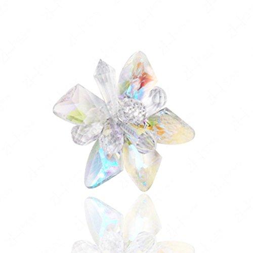 BESTOYARD Blume Schuhe Schnalle Hochzeit Kristallglas Blume Prinzessin Schuhclips für Schuhe Dekoration -
