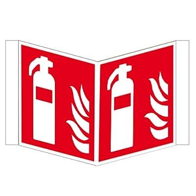 Feuerlöscher Winkelschild ISO Kunststoff 150 x 150 mm