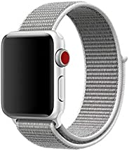 Nylon Sport Band for Apple Watch 40mm 38mm, Soft Replacement Strap for iWatch Series 4/3/2/1 (Seashell)