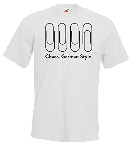 TRVPPY Herren T-Shirt Modell Chaos Germen Style in verschiedenen Farben, Gr. S-5XL Weiß