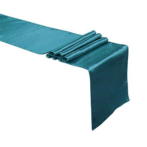 aspire Satin Tischläufer 30,5 x 274,3 cm Hochzeit Bankett Party Dekoration, blaugrün, Einheitsgröße