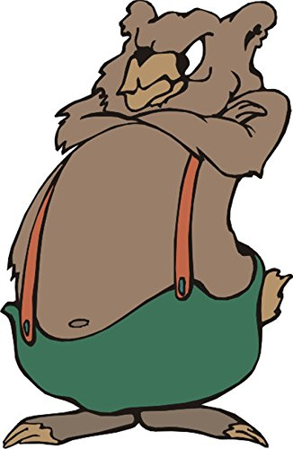 T-Shirt E621 Schönes T-Shirt mit farbigem Brustaufdruck - Logo / Grafik - Comic Design - wütender alter Nager / Eichhörnchen Weiß