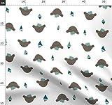 Bär, Punk Rock, Kinderkleidung, Babyhosen Stoffe - Individuell Bedruckt von Spoonflower - Design von Eleventy-Five Gedruckt auf Leinen Baumwoll Canvas