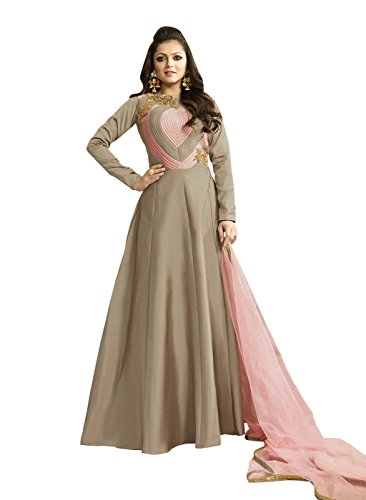 Touch Trends Designer Beige Salwar Suit | Formal Dress Coat style with Patch Work Crystal |1 and in the Set Modern Look at Affordable Price.