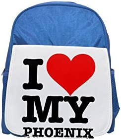 I LOVE MY PHOENIX printed kid's Bleu  backpack, Cute backpacks, cute small backpacks, cute Noir  backpack, cool Noir  backpack, fashion backpacks, large fashion backpacks, Noir  fashion backpack | Sortie