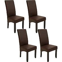 Amazon.es: sillas comedor marron