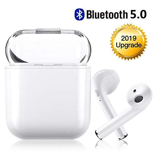 Bluetooth Kabellose Kopfhörer V5.0, Tragbares Freisprecheinrichtung, Kompatibel mit iPhone X, 8, 8 Plus, 7, 7 Plus, Samsung Galaxy, iOS, Android Smartphone