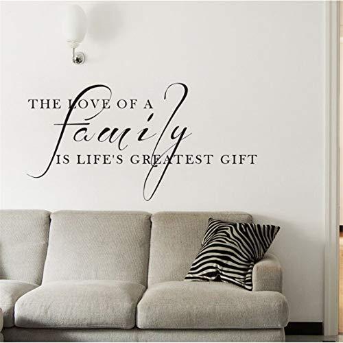 Zxfcczxf family quote decalcomania da muro l'amore di una famiglia È il più grande regalo citazione wall sticker home decor vinyl family poster a parete