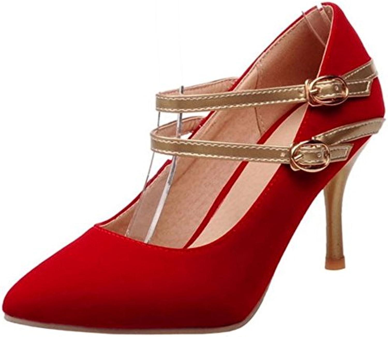 Zanpa Mujer Mode Tacon Zapatos Strap -