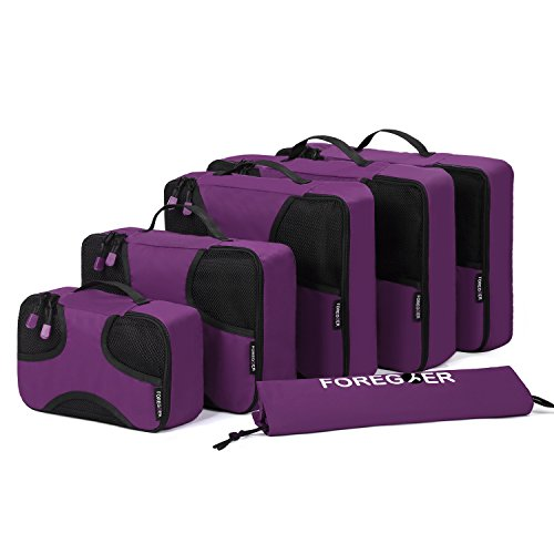foregoer-5-set-packing-cubes-travel-luggage-organizers-with-laundry-bag-purple