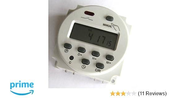 Zeitschaltuhr DC//AC 12V 16A LCD-Digital-Display Programmierbar Timer OVP Neu DE