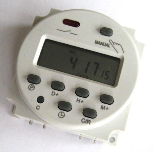 DC 12V Digitaler LCD Timer Programmierbar Zeitschaltuhr Zeitschalter AC Relaischalter 16A Amps - 12v Ac Timer Relais