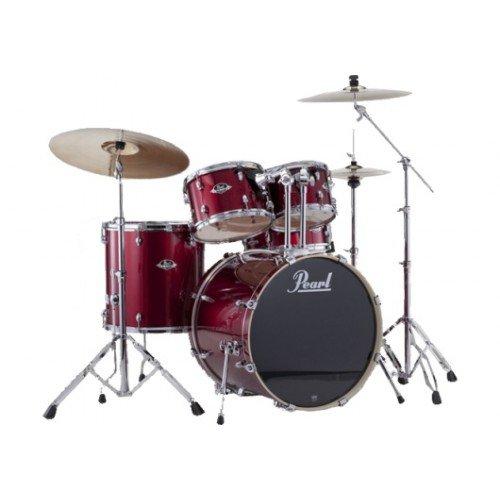 bateria-pearl-export-rock-22-red-wine-con-platillos