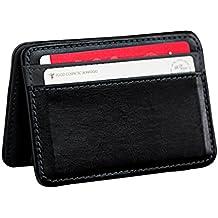 Malloom Mini Neutral mágica plegable titular de la tarjeta Monedero cuero cartera clip del dinero (