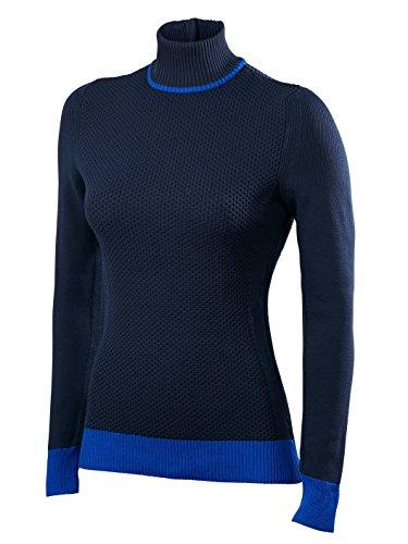 FALKE Damen Skipullover Zip Pullover Women Dark Night, S