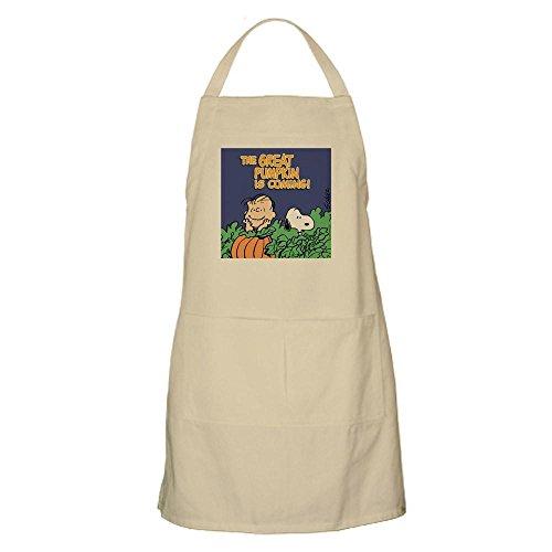 CafePress Küchenschürze mit Taschen, Motiv Great Pumpkin Khaki (Brown Halloween Lustig Charlie)