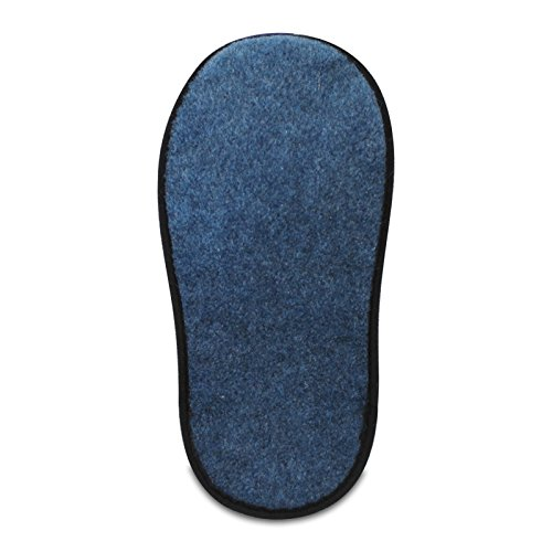 Faltbar Überziehschuhe Schuhüberzieher Filz 5 Innenlänge Dünner Strapazierfähiger Museumspantoffeln Paar Cm 30 Klein Blau BUq0wWpF0
